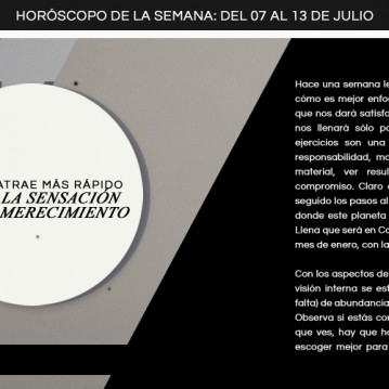 Horoscopo del 07 al 13 de julio