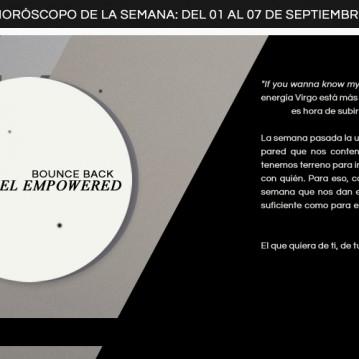 Horóscopo de la semana del 1ero al 7 de septiembre