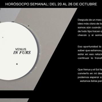 Horóscopo de la semana del 20 al 26 de octubre