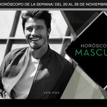 Horoscopo Masculino del 20 al 26 de noviembre