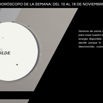 Horóscopo de la semana del 10 al 16 de noviembre
