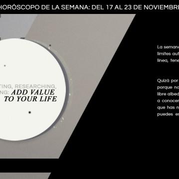 Horóscopo de la semana del 17 al 23 de noviembre