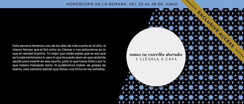 Horóscopo extendido: semana del 22 al 28 de junio