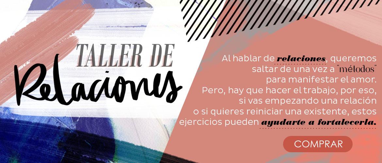 TALLER DE RELACIONES - BANNER COMPRAR