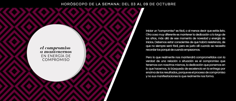 Horóscopo de la semana del 3 al 9 de octubre