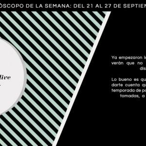 Horóscopo de la semana del 21 al 27 de septiembre
