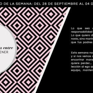 Horóscopo de la semana del 28 de septiembre al 4 de octubre